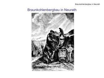 Braunkohlenbergbau in Neurath, Vortrag - Dr. Peter Zenker