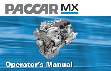 PACCAR MX Operator's Manual - Peterbilt Motors Company