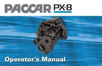 PACCAR PX-8 Operator's Manual - Peterbilt Motors Company