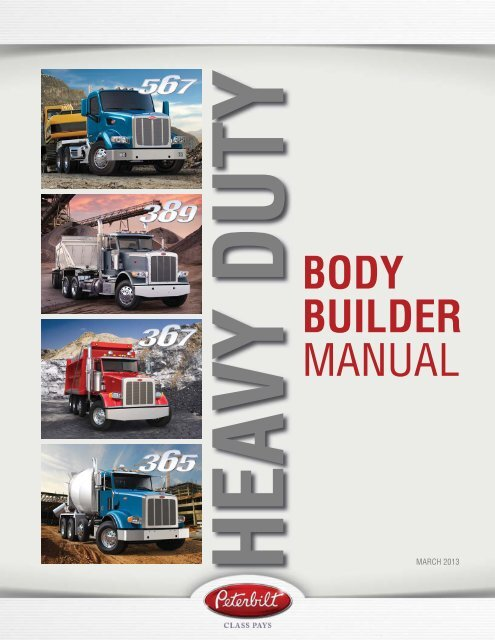 Heavy Duty Body Builder Manual - Peterbilt Motors Company
