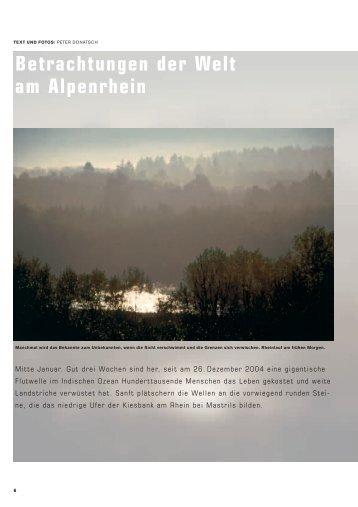 Betrachtungen der Welt am Alpenrhein - Peter Donatsch