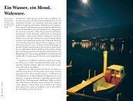Ein Wasser, ein Mond. Walensee. - Peter Donatsch