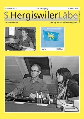 05.03.2010 - S Hergiswiler Läbe online - Peter Helfenstein