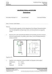 Schriftliche Prüfung am 05.07.2004 Musterlösung - Ingenieurbüro Dr ...