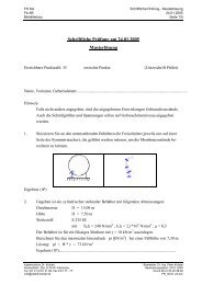 Schriftliche Prüfung am 24.01.2005 Musterlösung - Ingenieurbüro Dr ...