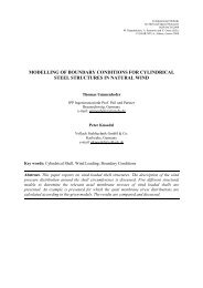 modelling of boundary conditions for cylindrical steel structures in ...