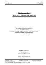 Drucklose Tanks unter Windlasten - Ingenieurbüro Dr. Knödel