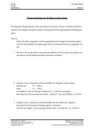 Übungsaufgaben zur Prüfungsvorbereitung - Ingenieurbüro Dr ...