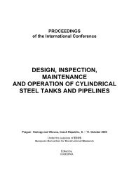 design, inspection, maintenance and operation of cylindrical steel ...