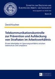 Telekommunikationskontrolle zur Prävention und ... - Peter Lang