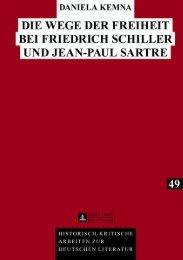 Die Wege der Freiheit bei Friedrich Schiller und Jean ... - Peter Lang