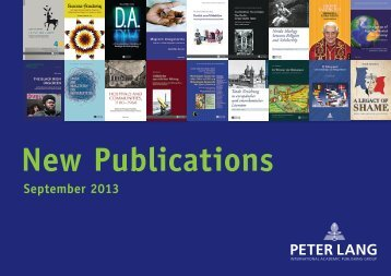 September 2013 - Peter Lang
