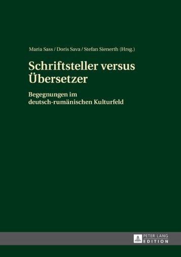 Schriftsteller versus Übersetzer: Begegnungen im ... - Peter Lang