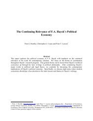 The Continuing Relevance of F.A. Hayek's Political ... - Peter Leeson