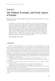 The Political, Economic, and Social Aspects of Katrina - Peter Leeson
