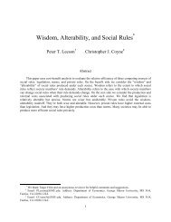 Wisdom, Alterability, and Social Rules - Peter Leeson