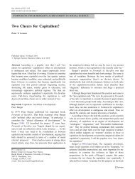 Two Cheers for Capitalism? - Peter Leeson