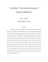 """God Damn:"" The Law and Economics of Monastic ... - Peter Leeson"