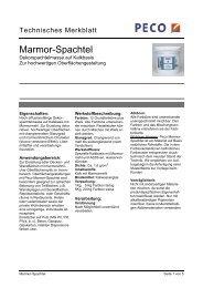 Marmor-Spachtel - PETERS sen