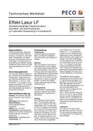 Effekt-Lasur LF - PETERS sen