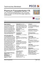 Premium Fassadenfarbe FA - PETERS sen