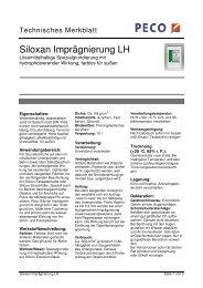 Siloxan Imprägnierung LH - PETERS sen