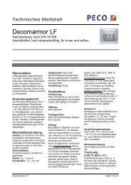 Decomarmor LF - PETERS sen