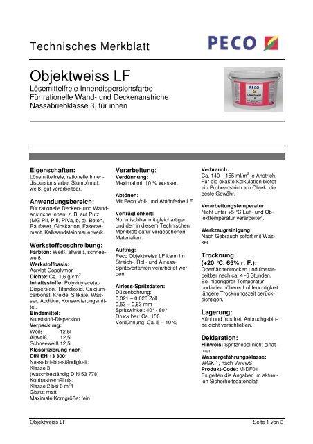 Objektweiss LF - PETERS sen