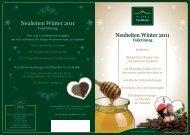 Neuheiten Winter 2011 Neuheiten Winter 2011 - Peter's TeaHouse