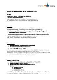 Koordinatoren und Themen 2012_deutsch - Petersburger Dialog