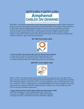 QSFP Cables • QSFP  Cables