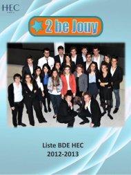 Liste BDE HEC 2012-2013 - Petit Fichier
