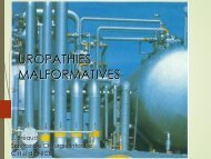 UROPATHIES MALFORMATIVES - Petit Fichier