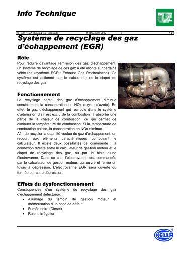 Système de recyclage des gaz d'échappement (EGR ... - Petit Fichier