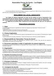 Association Forces Au Cercle – Les Eagles ... - Petit Fichier