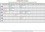 Emploi du temps CELCAT - F2SMH Toulouse