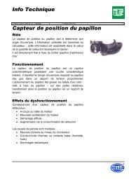 Capteur de position du papillon Info Technique - Petit Fichier