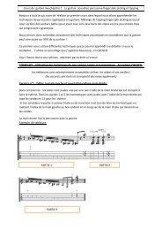 Cours de guitare live chapitre 1 : La guitare acoustico ... - Petit Fichier