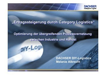 """Ertragssteigerung durch Category Logistics ... - PETonline"