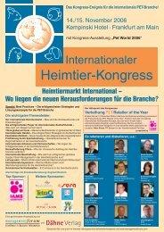 Internationalen Heimtier-Kongress - PETonline
