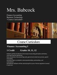 Course Curriculum - Public Schools Of Petoskey