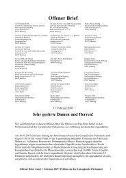 Offener Brief vom 17. Februar 2007 - Petra Heller