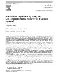 Munchausen's syndrome by proxy and Lyme disease ... - Petra Heller