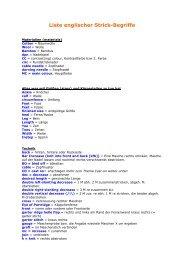 Liste englischer Strick-Begriffe - von Petra Schuster