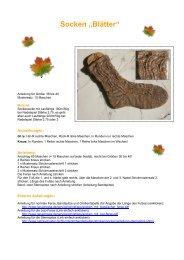 "Socken ""Blätter"" - von Petra Schuster"