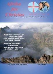 Nr. 2.Februar - bei den Missionsschwestern des hl. Petrus Claver