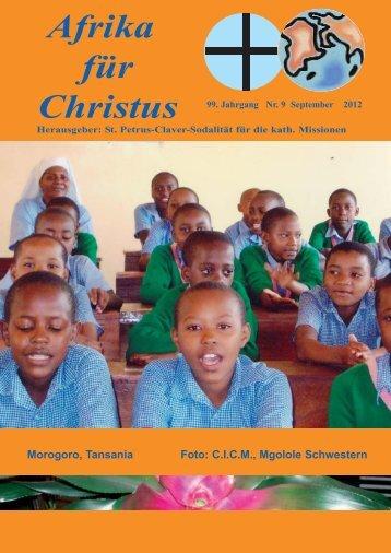 Nr. 9. September - bei den Missionsschwestern des hl. Petrus Claver