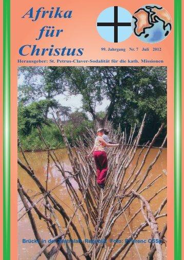Nr. 7. Juli - bei den Missionsschwestern des hl. Petrus Claver