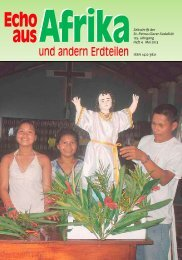 Nr. 4. Mai - bei den Missionsschwestern des hl. Petrus Claver