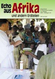 Nr. 6. Juli/August - bei den Missionsschwestern des hl. Petrus Claver